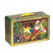 Rectangle Metal Gift Tin Box Rolled out edge For Christmas Holiday