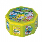 Promotional Octagonal Shaped Gift Tin Box With Food Grade Paint Varnish