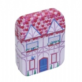 Small Rectangle Chrsitmas Mailing Gift Tin Box With Customized Logo Print