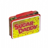 double lid rectangular pill tin box with handle