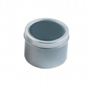 Plain Metal Round Seamless Candle Tin Cans With Pvc Window