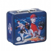 Embossed Lunch Tin Box Eagle Design For Football Fans Collection