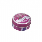 Lip Balm Small Tin Boxes Fashionable Eco Friendly Tinplate