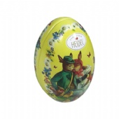 Small Easter Egg Chocolate Candy Metal Tin can With Bunny Ears