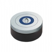 seamless round pill tin box with neck-in body