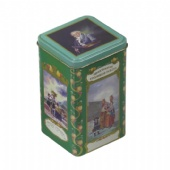 Square Coin Tin box printing with stackable lid Metal Storage Tin Box