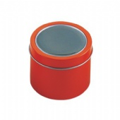 Printed Mini Round Metal Tin Box With Clear PVC Window Cookie Tin Can