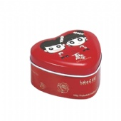 Metal Heart Shaped Tin Box Container For Candle And Chocolate And Cream pack