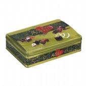 Chocolate Tin Box with domed lid