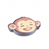 monkey shaped seamless pill tin box