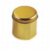 Elegant Gold Oval Tin Cans