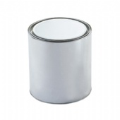 Round Clear PVC Sided Tin Cans