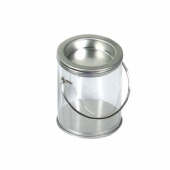 Round Wire Handle Tin Can