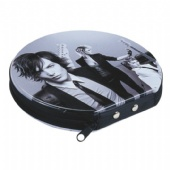 Round CD Tin Case With Zipper