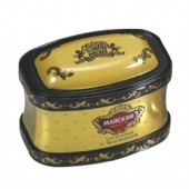 rectangular popcorn tin box with curved lid