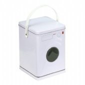 washing machine shaped popcorn tin box
