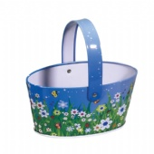 popcorn oval tin bucket