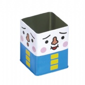 square popcorn tin box
