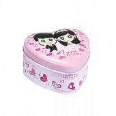small heart mint tin box