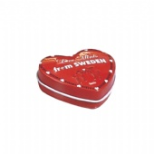 mini heart mint tin box