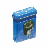 small mint tin box with plastic hinge
