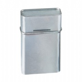 hinged lid cigarette tin box