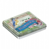 rectangular cigarette tin box with embossing