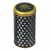 embossed round cigarette tin box