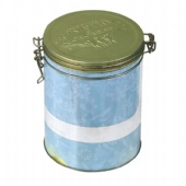 round airtight cigarette tin box