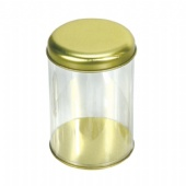 round cigarette tin box with PVC side