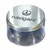 round cigarette tin box with PET body