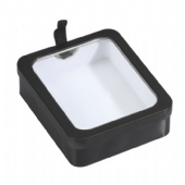 rectangular cigarette tin box with PVC window