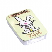 rectangular cigarette tin box with slide lid