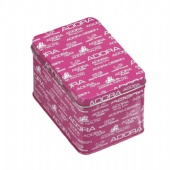 printed rectangular cigarette tin box