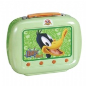 television shaped lunch tin box