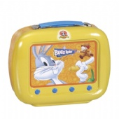 embossed TV shaped lunch tin box