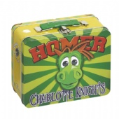 Retro Printed tin lunch box