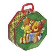 octagonal tin lunch box