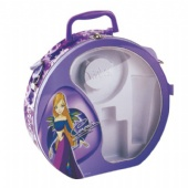 big round tin lunch box