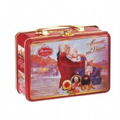 vintage tin lunch box with metal handle
