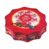 flower shaped chocolate tin box