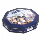 octagon shaped chocolate tin box