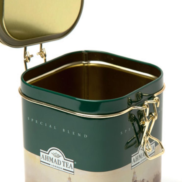 Tin Box with Clip Lid