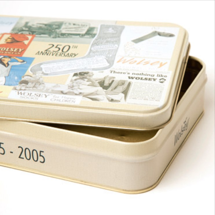 Tin Box with Slip Lids